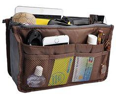 Purse Organizer,Insert Handbag Organizer Nylon Bag in Bag...
