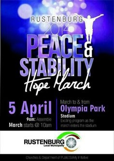 Rustenburg 2014 Peace and Stability Hope March