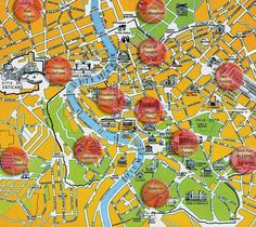map of hotels in Rome