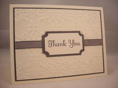 Simple Embossed Thank You PPA54