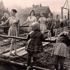 Ballet class in Russia during the war.
