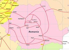 Discover Romania by train with a Romanian Rail Pass, providing train travel and the freedom to explore the Romanian country side and cities. Rail Pass, Train Travel, Eastern Europe, Romania, Map, Location Map, Maps