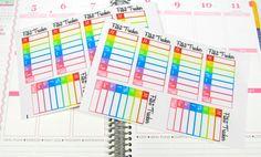 Rainbow Fitbit Daily Step Tracker Planner Sticker for Erin Condren Life Planner (ECLP) Reminder Sticker 1240