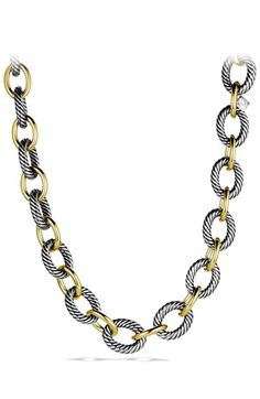 David Yurman 'Oval' Extra-Large Link Necklace with Gold available at #Nordstrom
