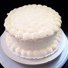Coconut cake with coconut whipped cream :) #vegan #chubbyvegan #coconut #cake #desert