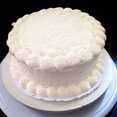 Coconut cake with coconut whipped cream :) #vegan #chubbyvegan #coconut #cake #desert