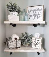 Wall Shelf with Brass Brackets Brown/Gold - Threshold™