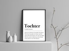 Daughter definition gift for daughter birthday gift family poster dictionary poster Scandinavian babyshower gift birth Daughter Birthday, To My Daughter, Family Poster, Motivational Gifts, Family Birthdays, Business Gifts, Typography Prints, Lettering, Siblings