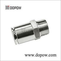 CAPC Straight Male Full Nickel Plated Brass Push in Fittings
