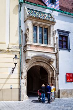 The gate to the Old Town Hall (Stará radnica) courtyard, Market Sqare in Bratislava, Slovakia