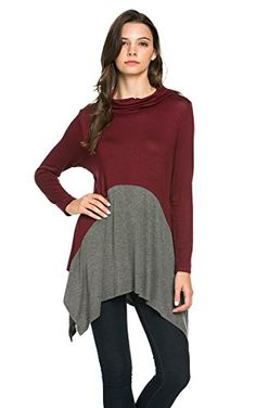 My Space Clothing Pullover Turtleneck Asym Hem Colorblock Tunic Top DK WINE H CHARCOAL Small My Space Clothing http://www.amazon.com/dp/B017KYJP6S/ref=cm_sw_r_pi_dp_q2JSwb1SC741Z