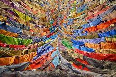 Hanging shirts installation