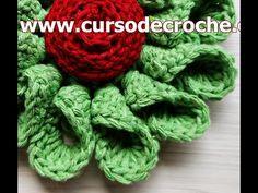 Shade Garden Flowers And Decor Ideas Croch Flores 082 Flor Dlia Crochet Flower Tutorial, Crochet Flower Patterns, Crochet Designs, Crochet Flowers, Grannies Crochet, Irish Crochet, Crochet Stitches, Knit Crochet, Bandeau Crochet