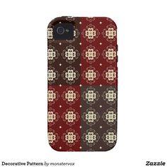 Decorative Pattern Vibe iPhone 4 Cover #Decorative #Design #Zazzle #Patterns #Mobile #Phone #Case #Cover #iPhone