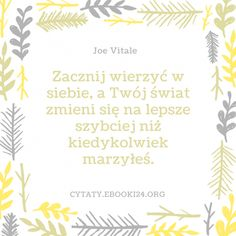 Joe Vitale cytat o wierze w siebie