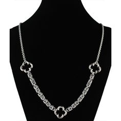 St. Patrick's Day Chainmaille DIY Jewelry | Byzantine Quatrefoil Necklace | Blue Buddha Boutique