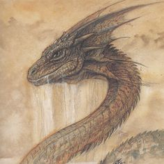 sea serpent -- [REPINNED by All Creatures Gift Shop] Great art!