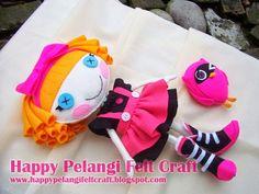 Happy Pelangi Felt Craft: 3D Lalaloopsy ^_^