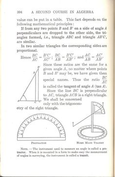 The first two pages of the first trigonometry