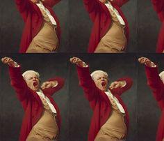 Joseph Ducreux - Self Portrait Yawning (1783) fabric by studiofibonacci on Spoonflower - custom fabric