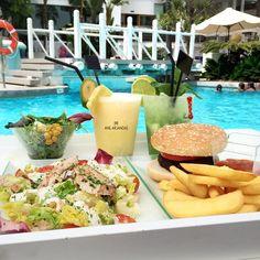"Anil Arjandas on Instagram: ""Pool lunch """