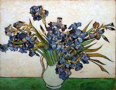 Vincent Van Gogh - Post Impressionism - Saint REMY - Vase d'Iris