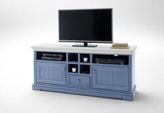 tv kommode lamer ii brilliantblau passend zum mobelprogramm lamer 1 x tv kommode mit 2 turen 1 schubkasten und 6 offene facher mit kabeloffnung masse