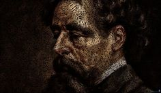 Beautiful picture of Cahrles Dickens, made out of words by Juan Osborn