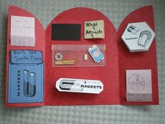 Great ideas for Science Lapbooks!!!... In the picture a Magnet Lapbook Cover...