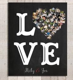 LOVE Print= Valentine's Day Gift - Romantic Gift - Personalized Gift - Anniversary Gift for Her - Gift for Him - Love Gifts, Gifts For Him, Diy Gifts, Be My Valentine, Valentine Day Gifts, Personalized Photo Gifts, Anniversary Gift For Her, Photo Heart, Mom Birthday Gift