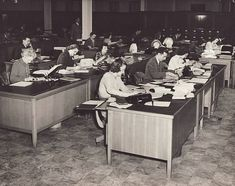 A 1940s office where Mare Liebermann might have worked