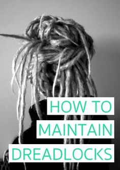 How to maintain dreadlocks to look clean, tidy and free of frizz! How to maintain dreadlocks to look clean, tidy and free of frizz! Half Dreads, Partial Dreads, New Dreads, Hippie Dreads, Dreadlocks Girl, Hippie Hair, Natural Dreads, Natural Hair, How To Style Dreadlocks