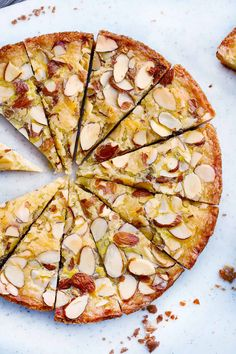 Dutch Butter Cake (Boterkoek) with Almonds - Bowl of Delicious