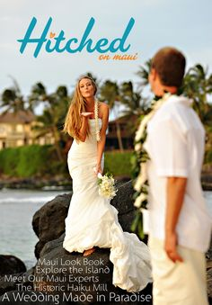 """""""Hitched on Maui"""", Hawaii's first wedding digital interactive tablet magazine is officially available in the Apple iTunes store! https://itunes.apple.com/us/app/hitched-on-maui/id720642452?mt=8"""