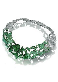 De GRISOGONO | Emerald and Diamond Necklace | {đιåмσиđѕ&ρєåɾℓѕ}