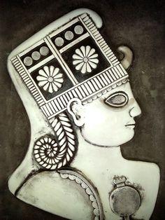 "Emel BOZKURT-HİTİT ""Kubaba"" Turkish Pattern, Ancient Near East, Mother Goddess, Ceramic Techniques, Sumerian, Ancient Symbols, Bronze Age, Gods And Goddesses, Anthropology"