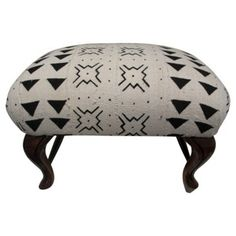 Check out this item at One Kings Lane! Ottoman w/ African Tribal Mud Cloth