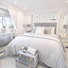 Whilst ones Husband works on the bathroom, bedroom ideas are in full swing 💃🏽 loving the mirrors above bedside tables 😍 Cute Bedroom Ideas, Room Ideas Bedroom, Home Bedroom, Bedroom Decor, Dream Rooms, Dream Bedroom, Bedroom Ideas Pinterest, Aesthetic Bedroom, Home Additions