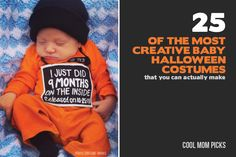 We are gasping at every one of these awesomely creative DIY baby costumes. Especially because you can actually make them yourself without spending months.