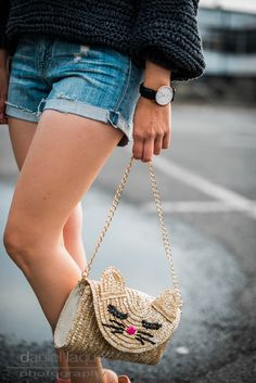 Big knit and denim shorts on juliesdresscode.de