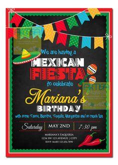 Mexicana Fiesta invitación invitación de Cinco de Mayo