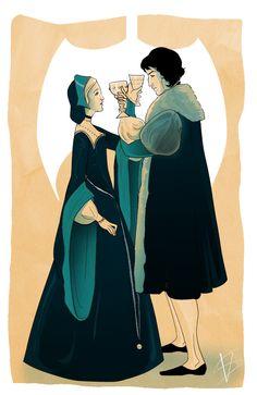 George and Jane Boleyn by savivi on deviantART
