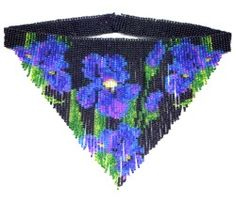 Iris Weave Fringe Necklace : Beading Patterns and kits by Dragon!, The art of beading.