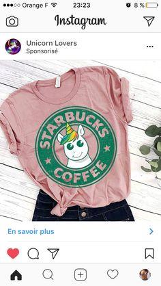 Unicorn Starbucks t-shirt Unicorn Fashion, Unicorn Outfit, Unicorn T Shirt, Unicorn Clothes, Cool Outfits, Summer Outfits, Fashion Outfits, Women's Fashion, Starbucks T Shirt