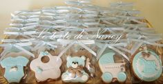 Biscotti nascita/battesimo Baby Party, Baby Shower Parties, Baby Boy Shower, Baby Cookies, Baby Shower Cookies, Baptism Ideas, Shower Cakes, Cake Pops, Christening