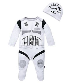 Star Wars Storm Trooper All in One with Hat - onesies - Mothercare