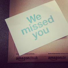 Amazon's friendly calling card.