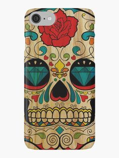 Wood Sugar Skull • Also buy this artwork on phone cases, stickers, stationery, and more.