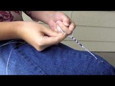 ▶ How to Make Tzitzit Fringes - YouTube