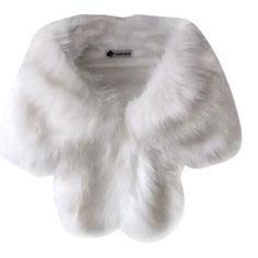 Faux Coat, Fox Fur Coat, Faux Fur, White Cloak, White Cape, White Fur Coat, White Shawl, White Fox, Black White
